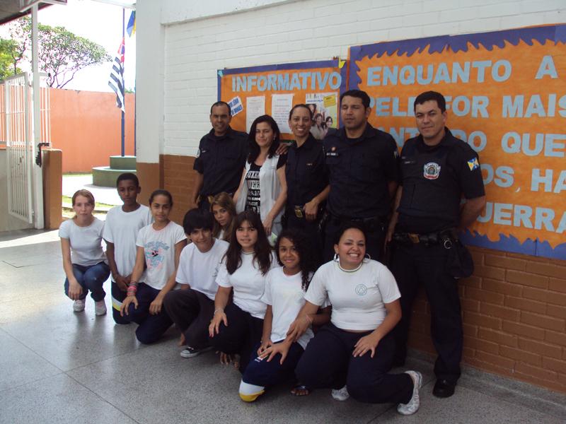 Guarda Municipal de Barueri, que desenvolve o programa JCC (Jovens Construindo Cidadania)